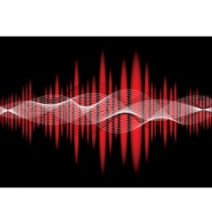 music equaliser wave red vector image vector image