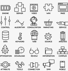 Set of seo and internet service icons - part 3 vector image