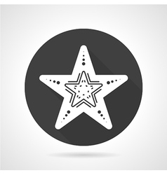 Starfish black round icon vector image vector image