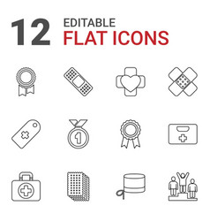 12 first icons vector