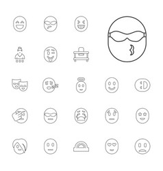 22 cheerful icons vector