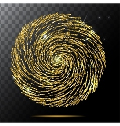 Abstract Bright Falling gold spiral Star vector