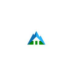 abstract mountain sign logo vector image