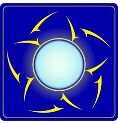 Abstract octagon vector