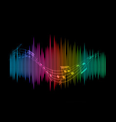 Abstract soundwaves background vector