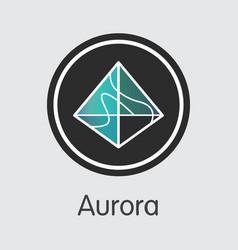 Aoa - aurora the logo of crypto coins or market vector