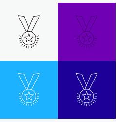 Award honor medal rank reputation ribbon icon vector