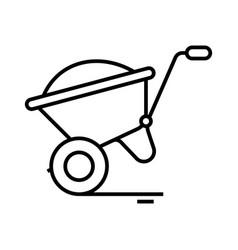 cargo cart line icon concept sign outline vector image