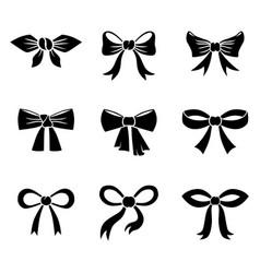 carton bow icon set vector image
