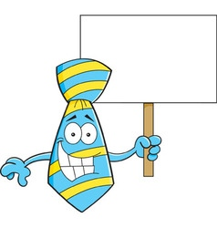 Cartoon tie holding a sign vector image
