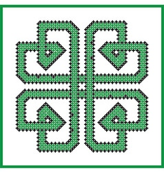 Celtic endless knot in square clover shape vector