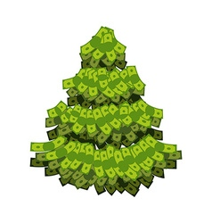 Christmas tree from dollar Tree out of money vector image