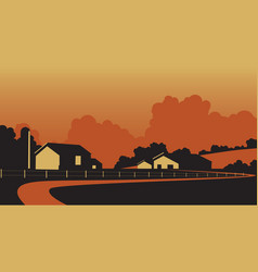 Country farmstead vector