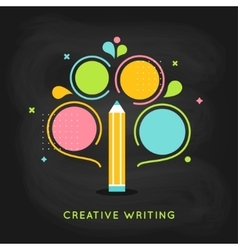 Creative Writing Plan Infographics Template on vector