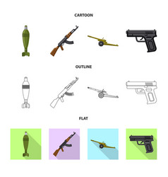 design of weapon and gun sign collection vector image