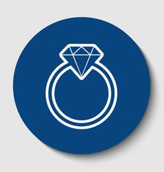 diamond sign white contour vector image