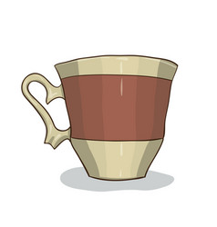 digital painted cup vector image