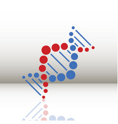 dna helix logo template genetics design biological vector image