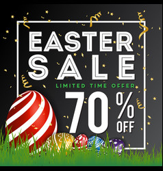 Easter sale special discount background banner vector