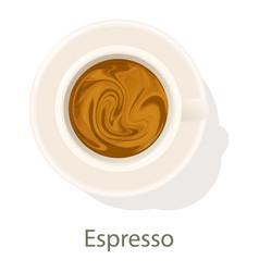 espresso icon cartoon style vector image