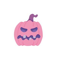 flat halloween pumpkin vector image