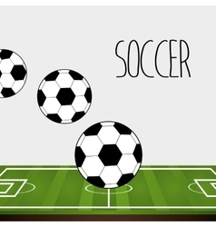 football soccer vector image