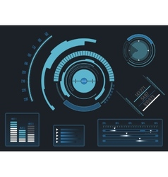 Futuristic user interface HUD vector image