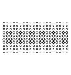 gear shape halftone grid vector image