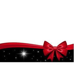 Gift card with red ribbon bow isolated on white vector