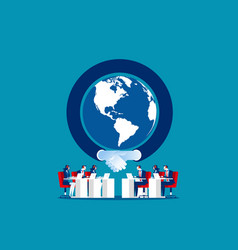 Global communication concept business team vector