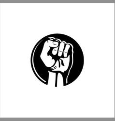 Hand up logo vector