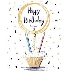 happy birthday colorful poster vector image