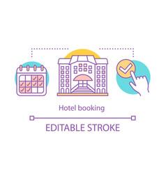 hotel booking concept icon vector image