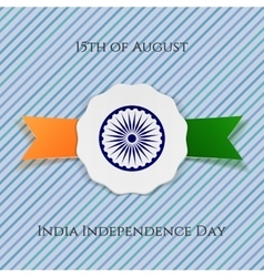 India Independence Day patriotic Badge vector