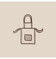 Kitchen apron sketch icon vector