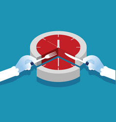 Manager and time slice concept business vector