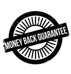 Money back guarantee stamp vector image