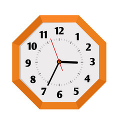 Octagon shape isolated wall clock vector