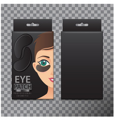 Package of black hydrating under eye gel patches vector