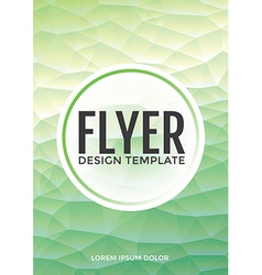 Pastel modern mint polygonal brochure flyer vector