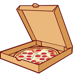 Pizza Box Icon vector image