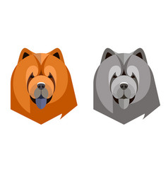portrait a chow-chow in a geometric style vector image