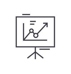 presentation boardflip chart line icon vector image