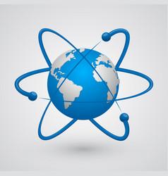 Satellites around the earth vector