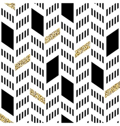 Seamless Chevron Pattern With Glittering Gold and vector image