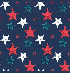 Seamless star pattern hand drawn sketch stars vector