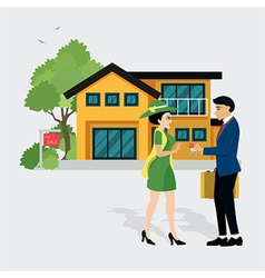 Sell house vector image
