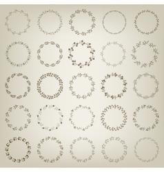 set hand-draw victory laurel wreaths vector image