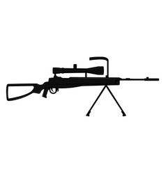 silhouette of a sniper rifle vector image