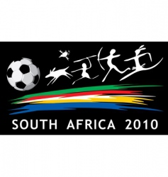 south Africa we 2010 vector image